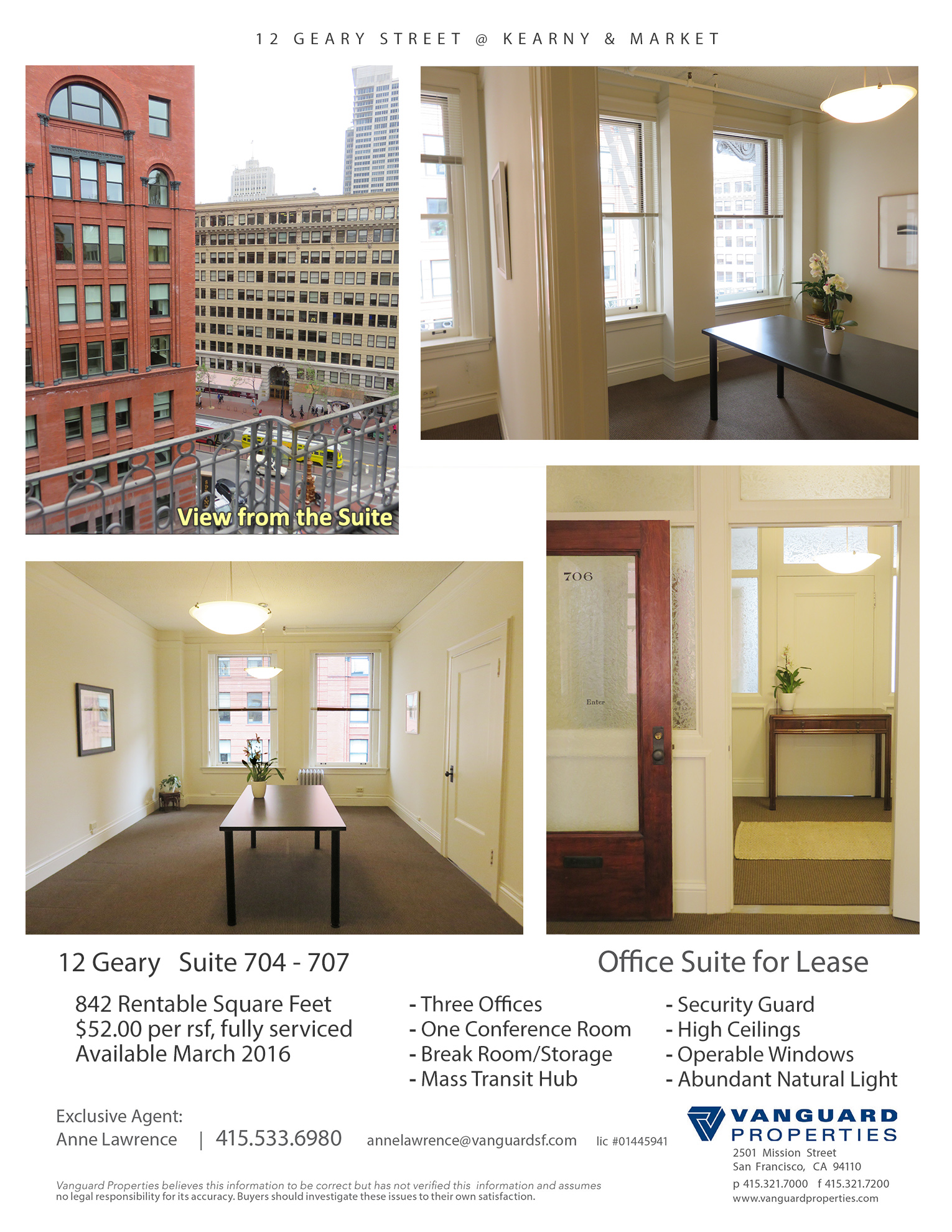 Listing 3160 : 12  Geary St #704, San Francisco, CA, 94108  (photo 1)